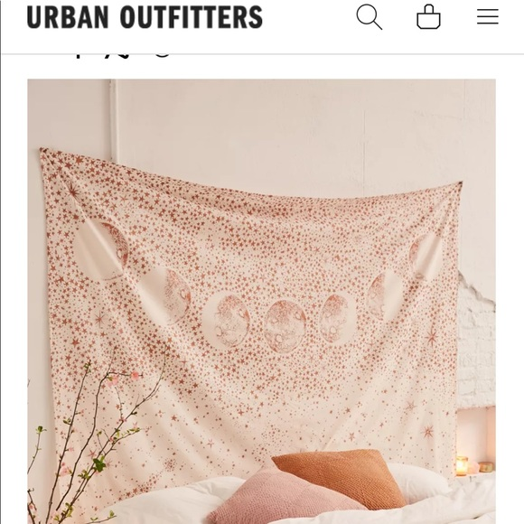 Urban Outfitters Pink Galaxy Tapestry